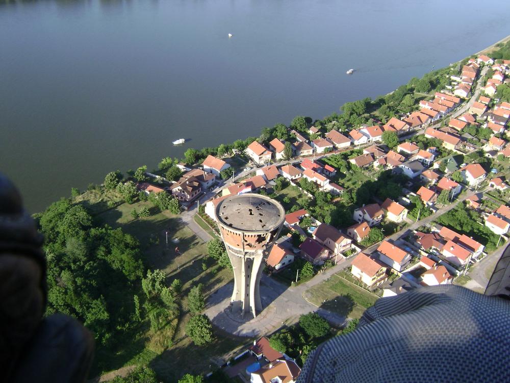 Iznad Vukovara.